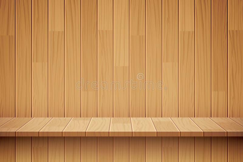 空的木架子背景 库存例证