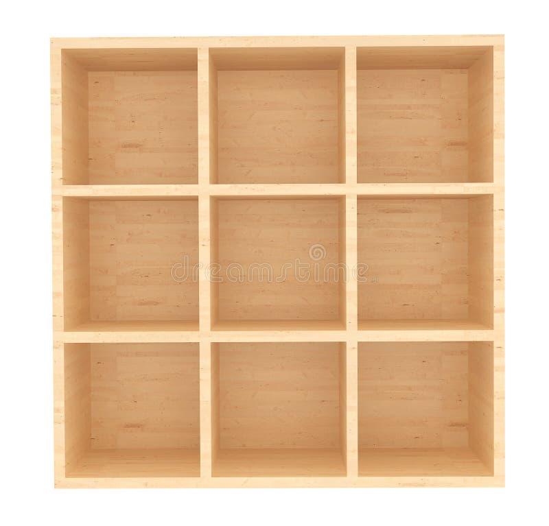 空的木零售架子 库存例证