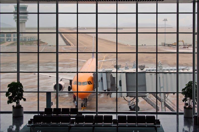 空的机场 库存照片