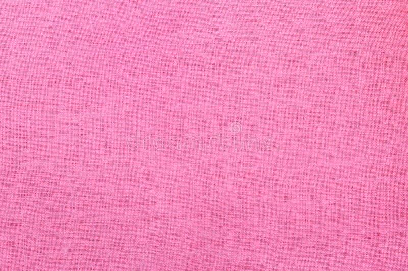 空的桃红色亚麻制织品背景。 图库摄影