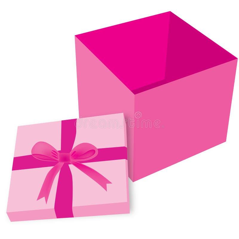 空的桃红色礼物盒 皇族释放例证