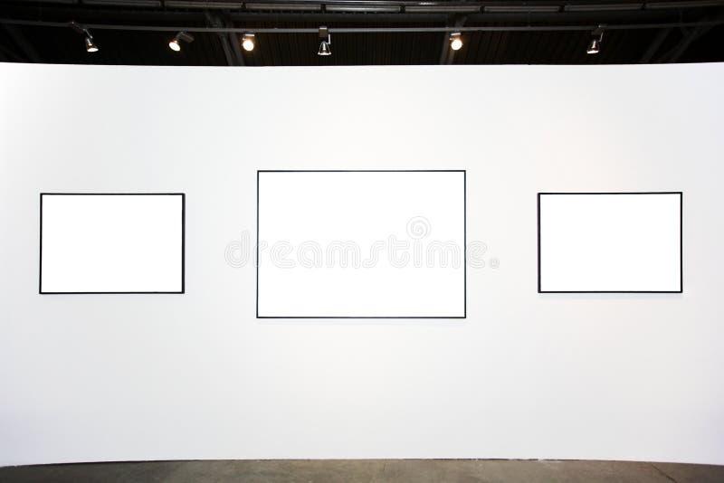 空的框架三墙壁白色 免版税图库摄影