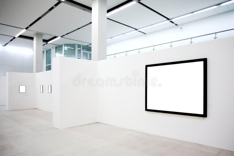 空的框架围住白色 免版税库存照片