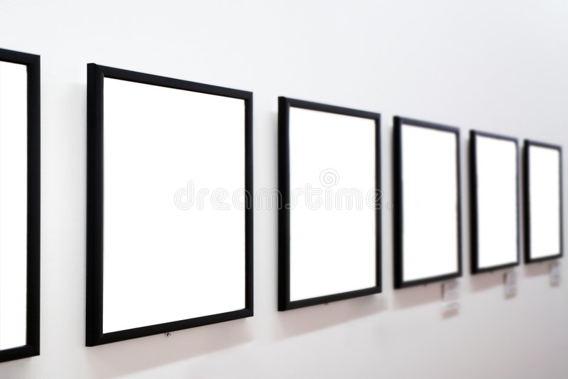 空的框架墙壁白色 库存图片