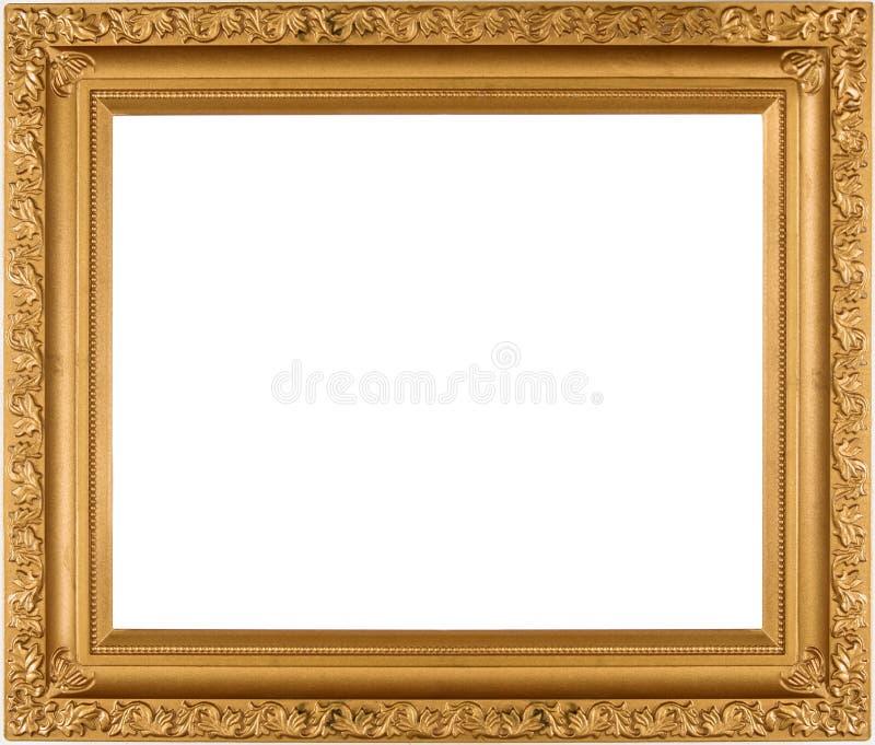 空的框架金子 库存图片