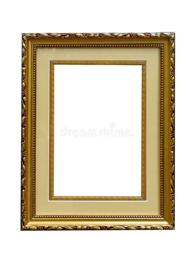 空的框架金黄查出的老照片 图库摄影