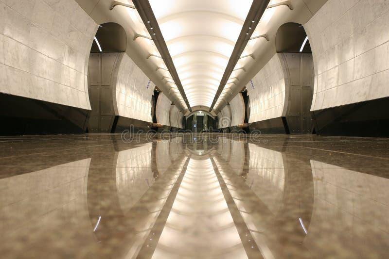 空的楼层岗位地铁 免版税库存图片