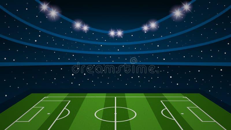 空的橄榄球场竞技场体育场,传染媒介例证 向量例证