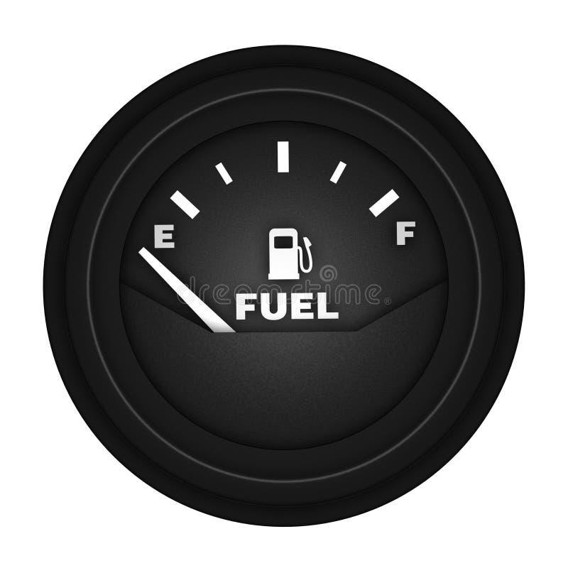 空的汽油表 皇族释放例证