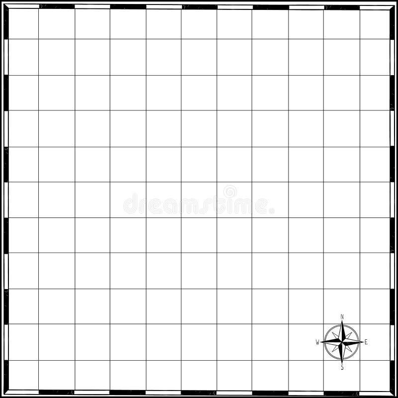 空的海盗珍惜地图在与手画框架的老纸纹理并且起来了风,tamplate为海搜寻,传染媒介嘲笑  皇族释放例证