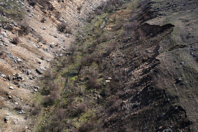 空的深地球峭壁风景从上面的 库存图片