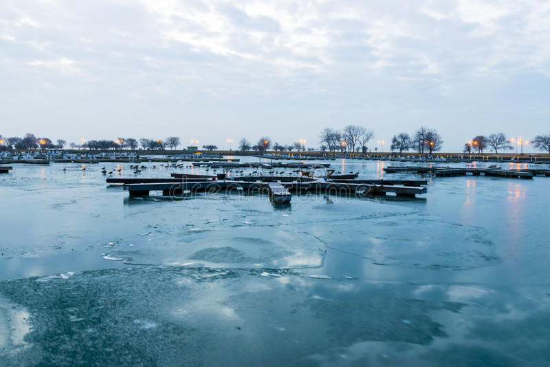空的港口在清早 免版税图库摄影