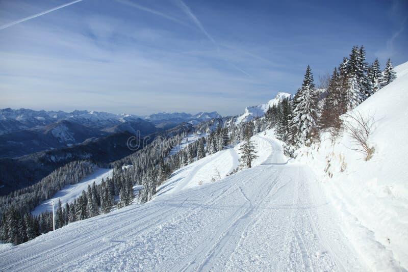 空的滑雪道 库存图片