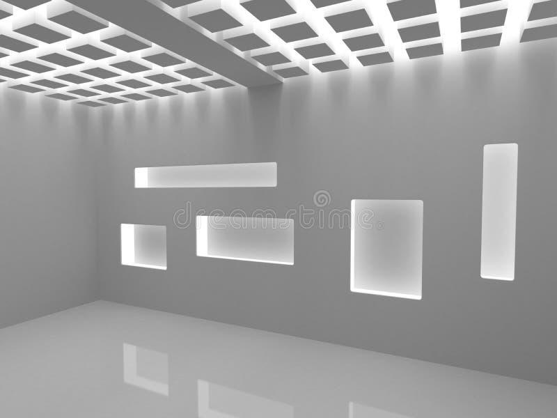 空的现代界面 库存例证