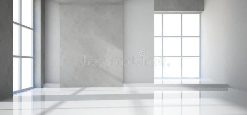 空的现代室 库存例证