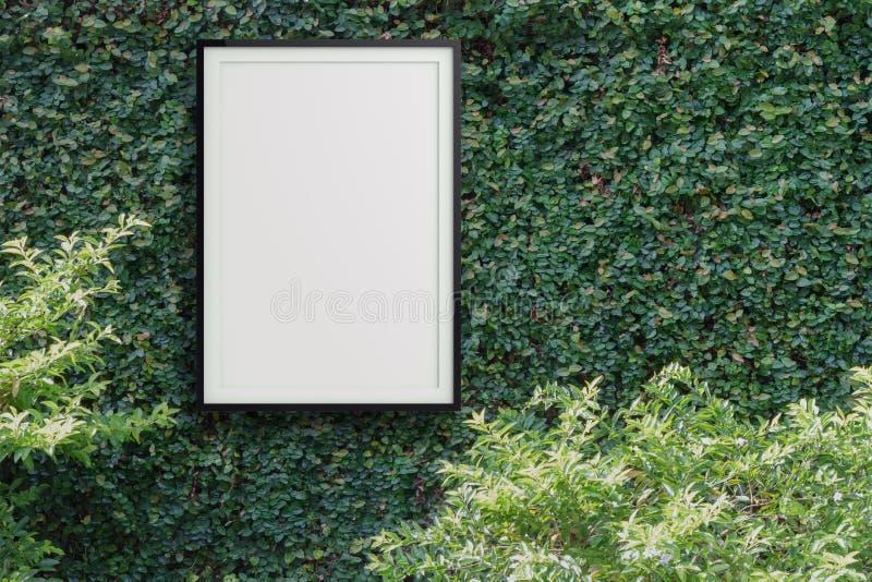 空的现代样式框架3d 库存图片