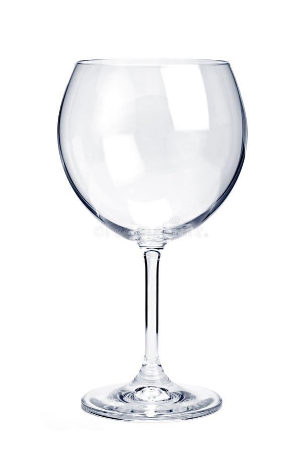 空的玻璃红葡萄酒 免版税库存照片