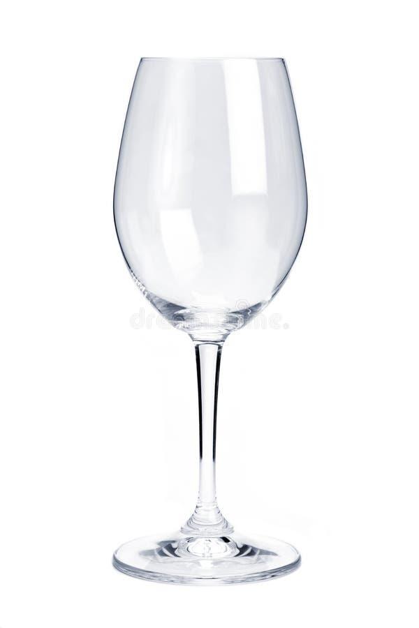 空的玻璃红葡萄酒 库存图片