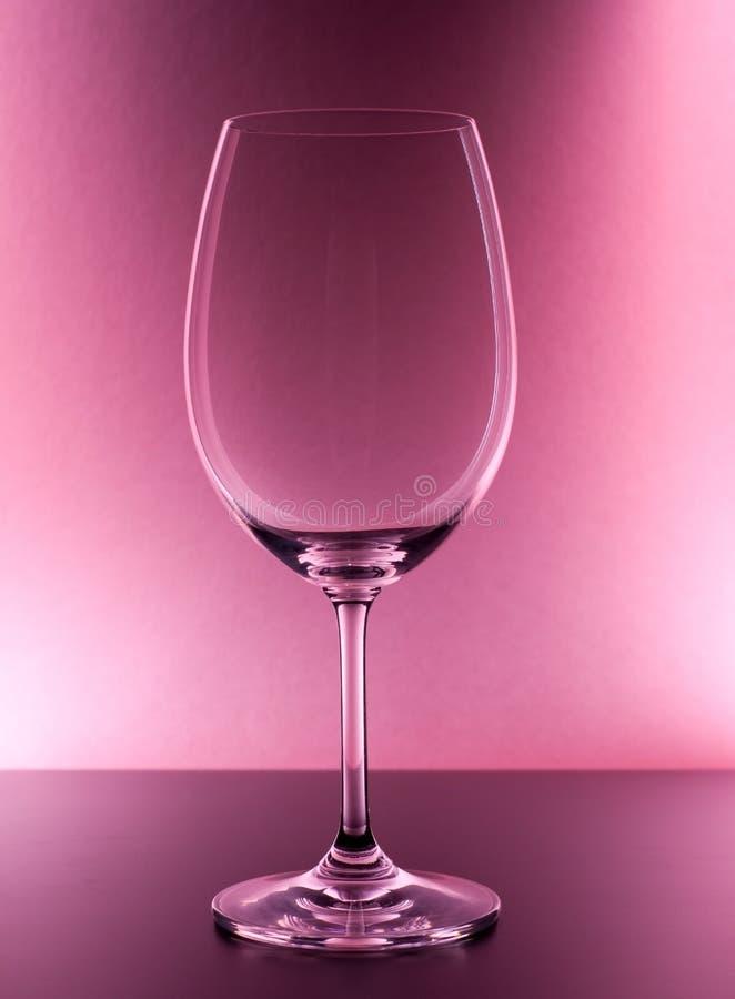 空的玻璃红葡萄酒 库存照片