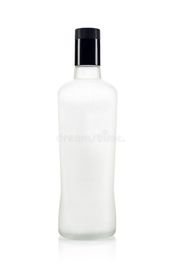 空的瓶伏特加酒 免版税库存图片