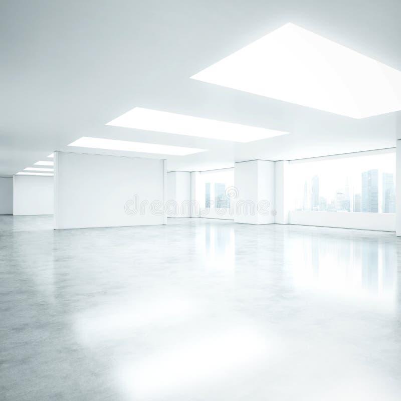 空的白色办公室内部 免版税库存照片