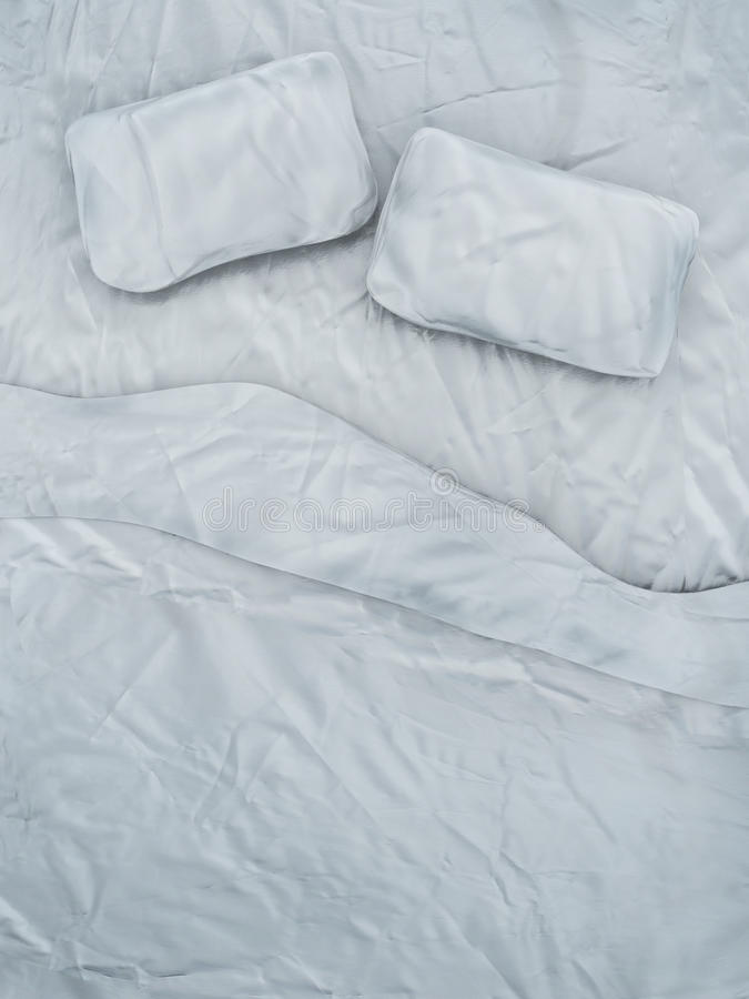 空的白色床 库存例证