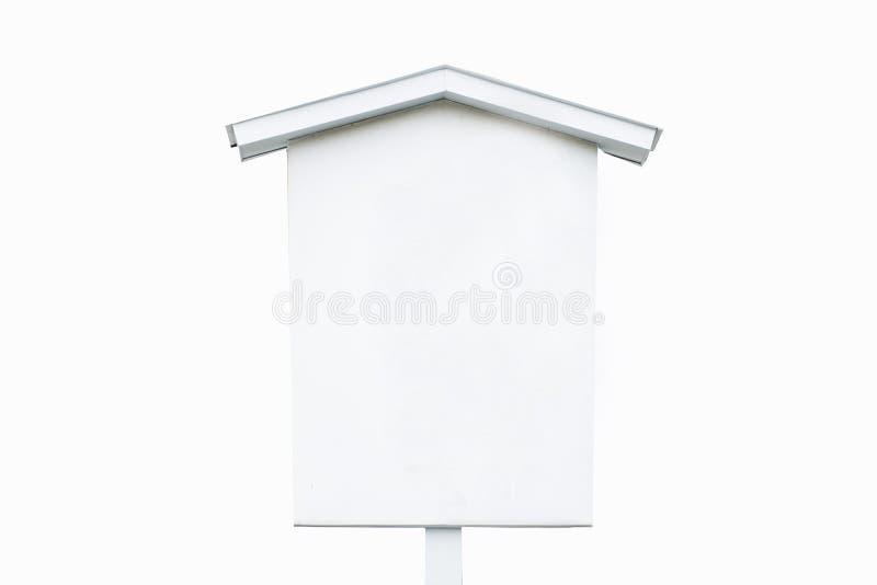 空的白色木标志 免版税库存图片