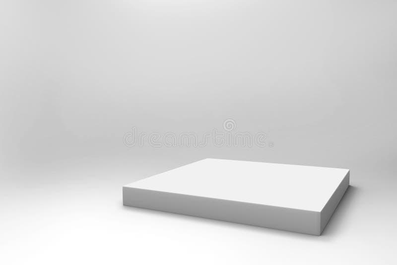 空的白色立方体背景 免版税图库摄影