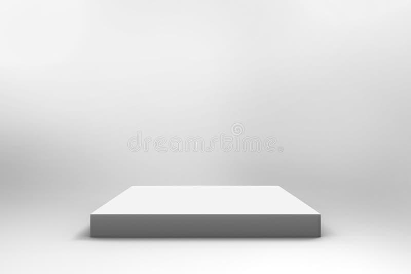 空的白色立方体背景 免版税库存图片