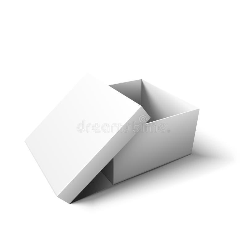 空的白色纸板箱 r 向量例证