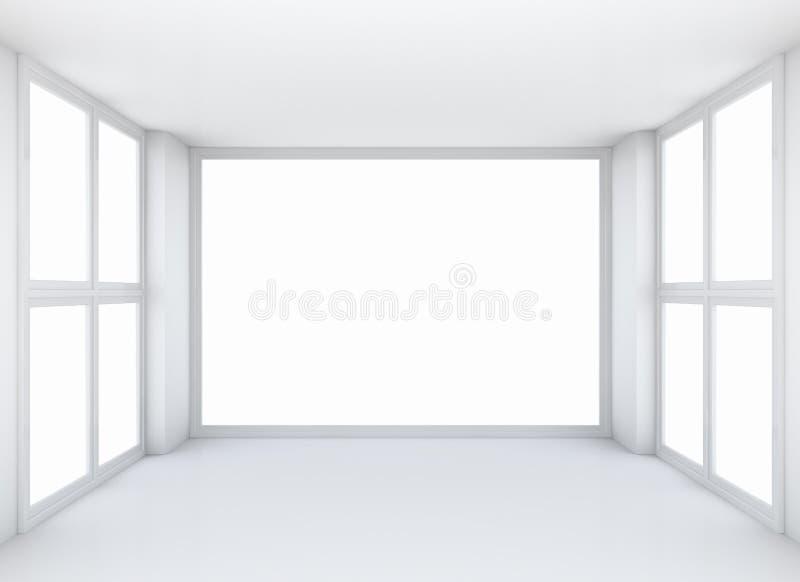 空的白色露天场所内部 免版税库存图片