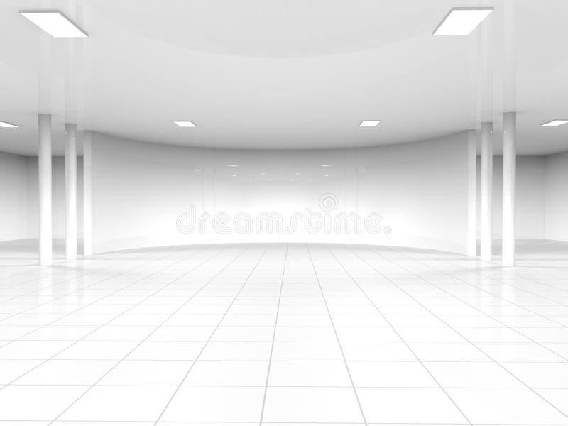 空的白色露天场所3D翻译 库存例证
