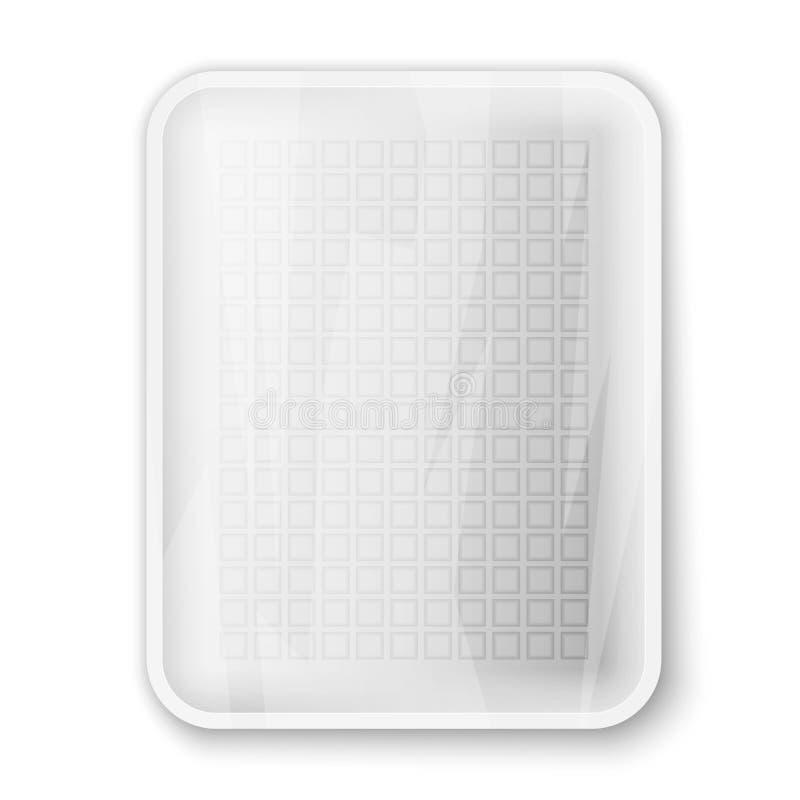 空的白色食物盘子 向量例证