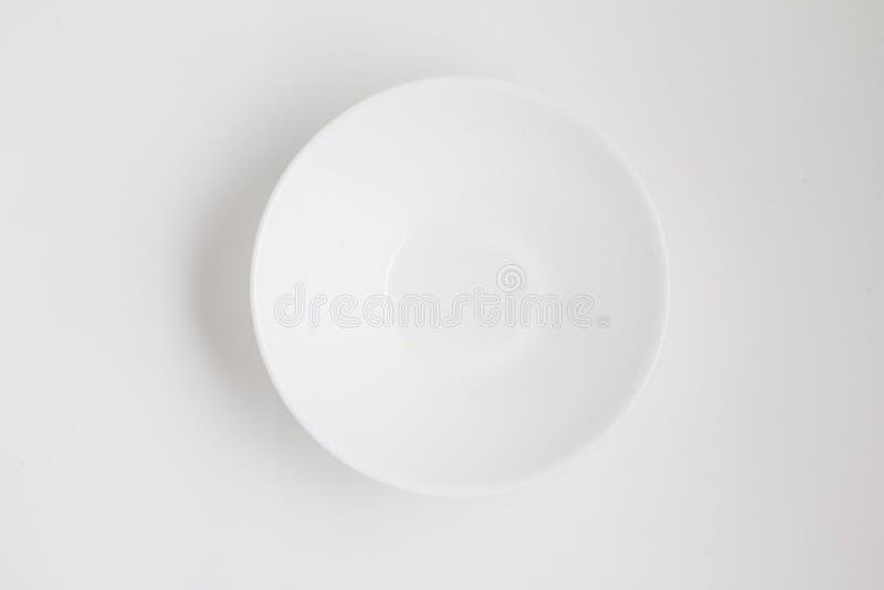 空的碗 顶视图 库存图片