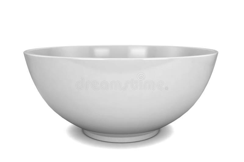 空的碗 向量例证