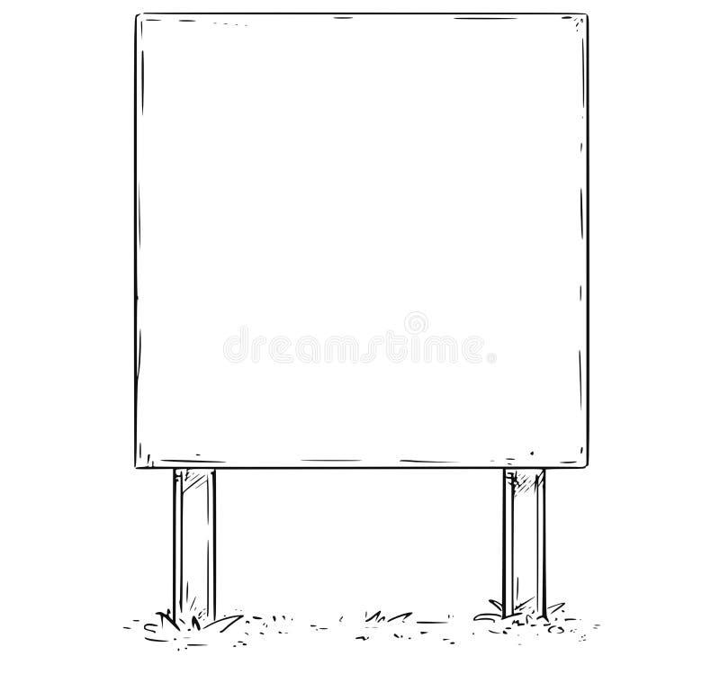 空的空白的标志板图画 向量例证