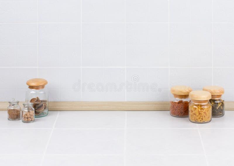 空的空间在厨房里 免版税库存照片