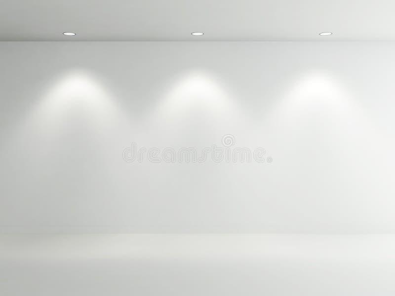 空的空间白色 库存例证