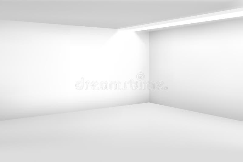 空的空间白色 3d现代空白的内部 传染媒介家庭背景 库存例证