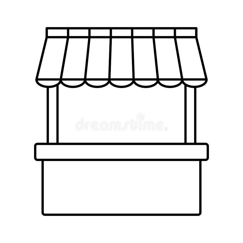 空的立场摊位模板商店和营销广告销售 库存例证