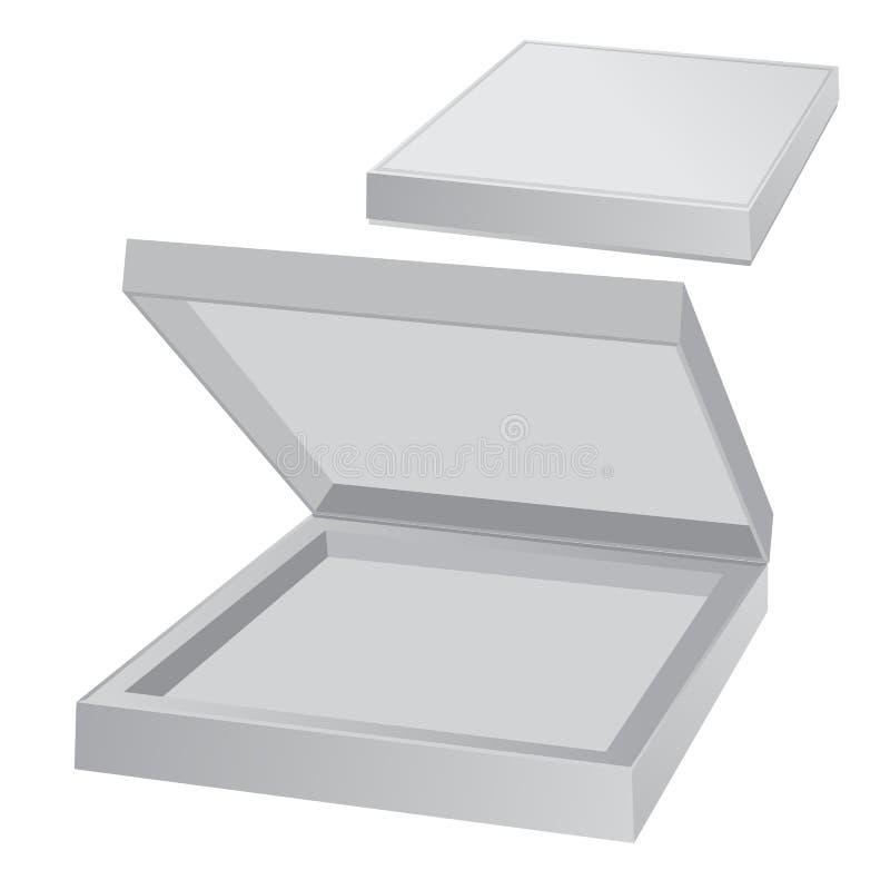 空的箱巧克力 向量例证
