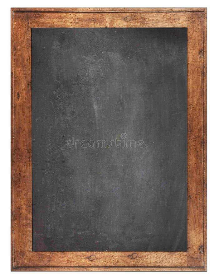 空的粉笔板背景/空白 黑板背景 免版税库存照片