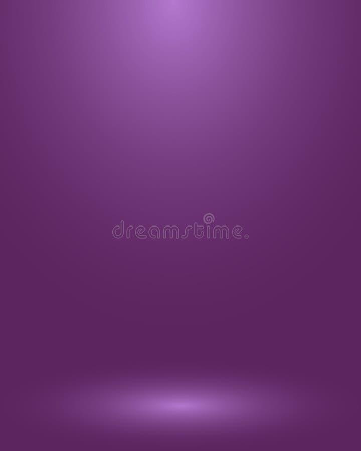 空的紫色演播室室,作为背景用于显示您的产品-传染媒介 库存例证