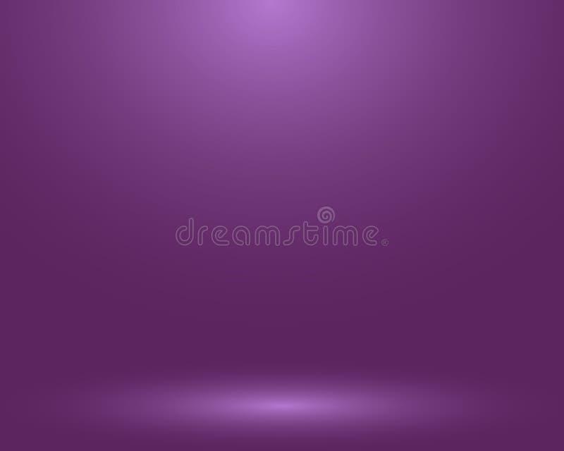 空的紫色演播室室,作为背景用于显示您的产品-传染媒介 向量例证