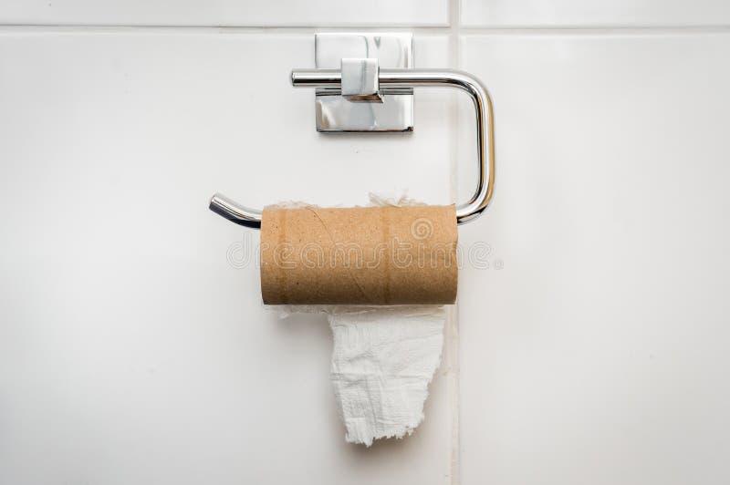 空的纸卷洗手间 免版税图库摄影