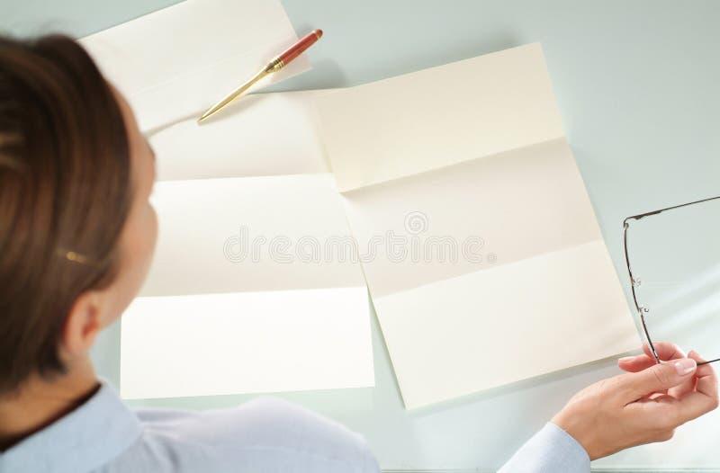 空的纸张 免版税库存图片