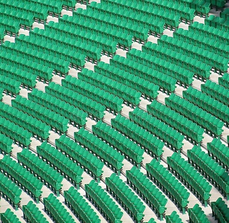 空的绿色位子 图库摄影