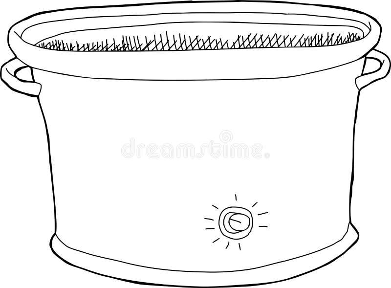 空的缓慢的烹饪器材概述 向量例证