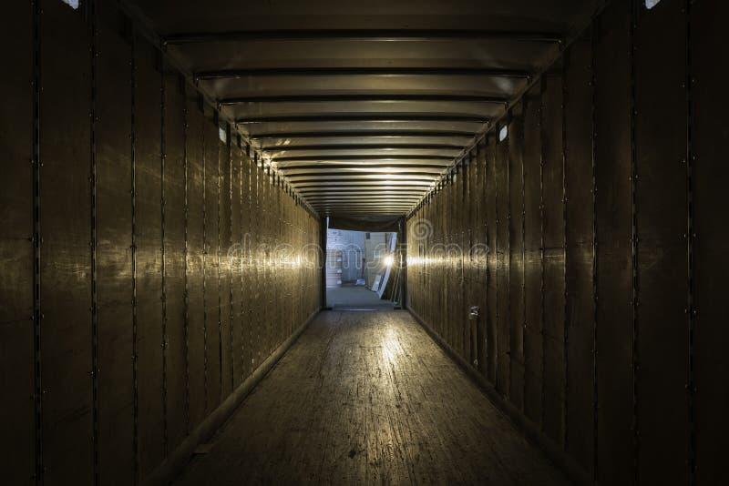 空的老卡车拖车 库存照片