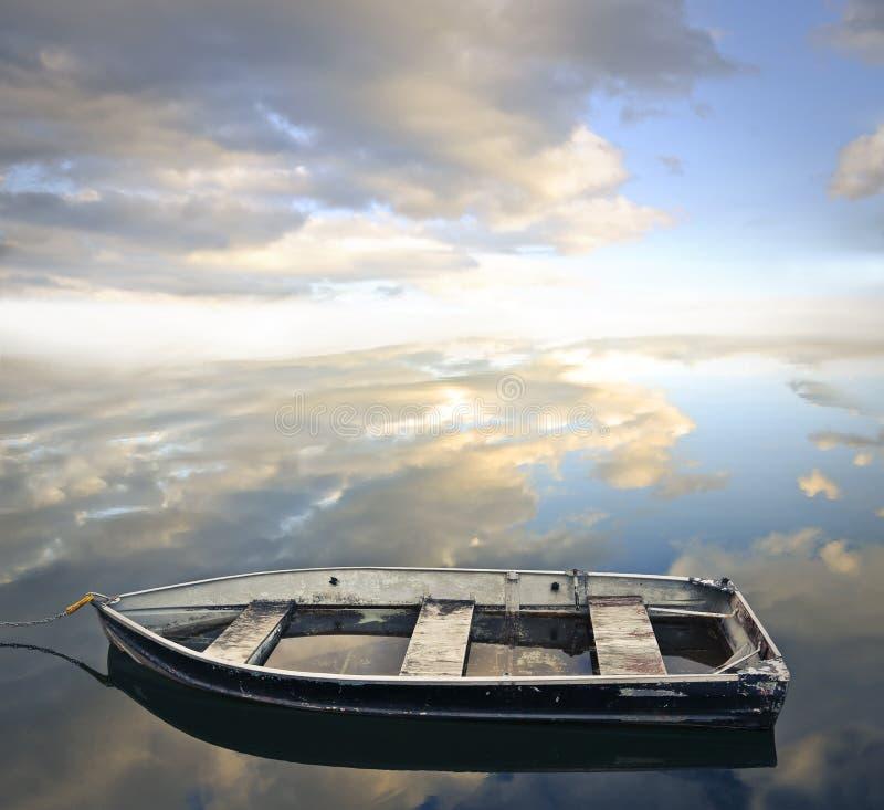 空的老小船 库存照片